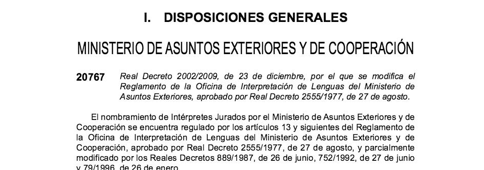 certificación de una traducción jurada