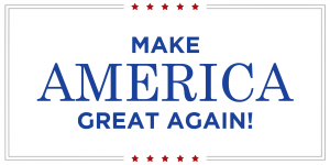 La traducción del eslogan político de Donald Trump